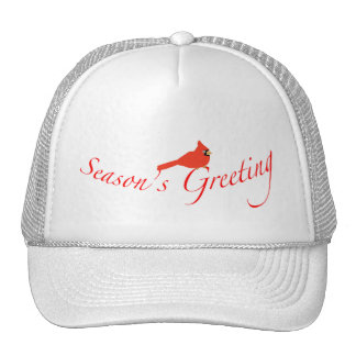 Season's Greeting Cardinal Cap Hats