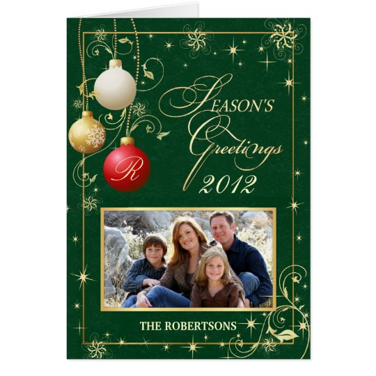 Seasons Greeting Cards - Family Photo Template