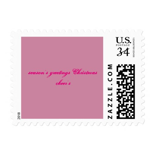 season's greeting christmas cheer's postage stamp | Zazzle