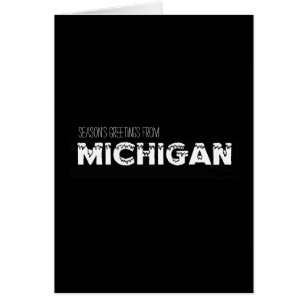 Seasons greetings from michigan gifts on zazzle seasons greeting from michigan black and white card m4hsunfo