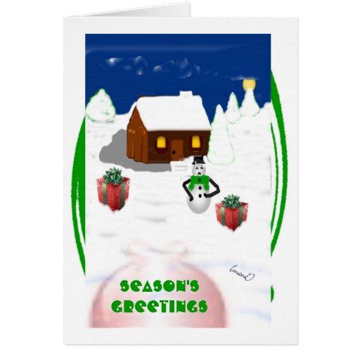 Season's Greeting   greeting / note card