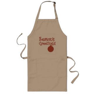 Season's greeting long apron