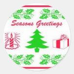 Seasons Greeting Stickers