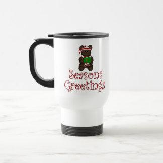 Seasons Greeting Teddy Bear Mug