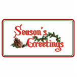 Season's Greeting Text Design, with Pine Cones Photo Cutouts