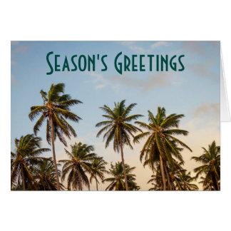 Season's Greeting with Palm Trees Card