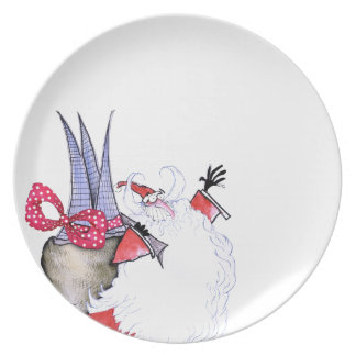 Seasons Greetings 1 by Tony Fernandes Dinner Plate