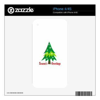 Season's Greetings Applique Decals For The iPhone 4S