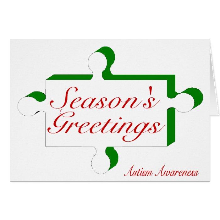 Seasons Greetings Autism Awareness Greeting Card