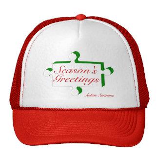 Seasons Greetings Autism Awareness Mesh Hats