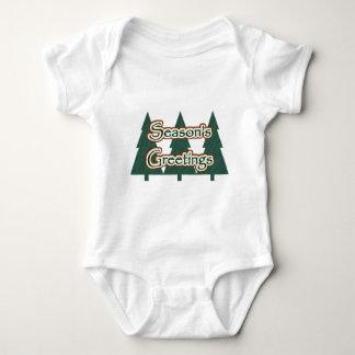 Season's Greetings Baby Clothes Baby Bodysuit