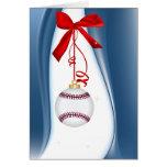 Season's Greetings Baseball Greeting Card