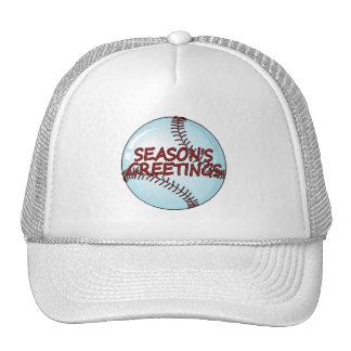 Seasons Greetings Baseball Mesh Hats