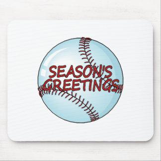 Seasons Greetings Baseball Mouse Pad