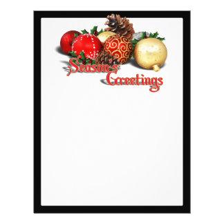 Seasons Greetings - Baubles & Pine Cones Full Color Flyer