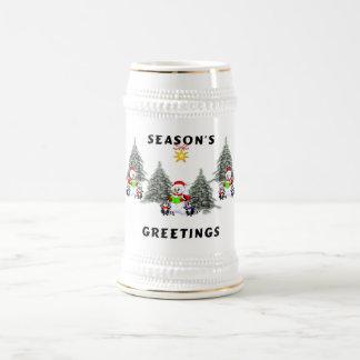 Seasons Greetings Beer Stein