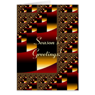Season's Greetings Blank Card