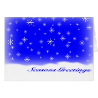 SEASONS GREETINGS BLUE CARDS