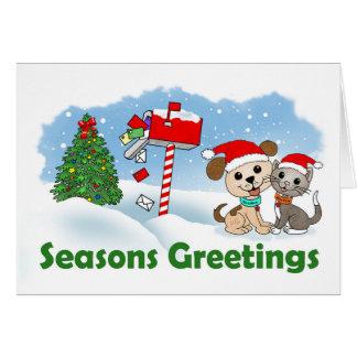 Seasons Greetings (BowWow & MeeYow) Card