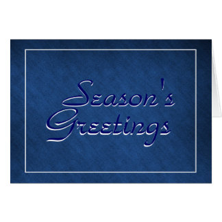 Season's greetings business greeting card