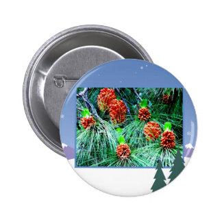 Seasons greetings_ pinback buttons