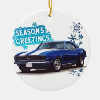 Season's Greetings Camaro Ceramic Ornament