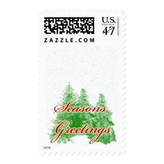 Seasons Greetings Card 10 Postage Stamp