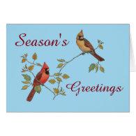 Season's Greetings Cardinals Card