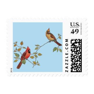 Season's Greetings Cardinals Postage