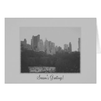 Season's Greetings - Central Park Ice Skating Rink Card