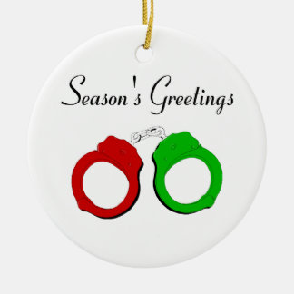 Seasons Greetings Ceramic Ornament