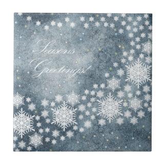Seasons Greetings Ceramic Tile