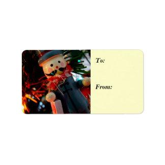 Season's Greetings Chimney Sweeper Gift Label
