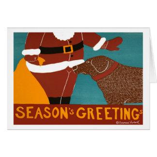Seasons Greetings-Chocolate Lab-Stephen Huneck Card