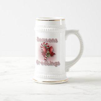 """""""Seasons Greetings"""" Christmas Beer Stein"""