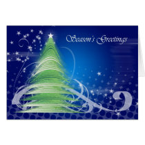Season's Greetings Christmas Card modern design tr