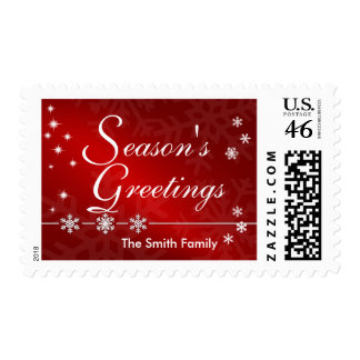 Season's Greetings Christmas Holiday Postage