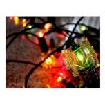 Season's Greetings Christmas Lights Photo Postcard