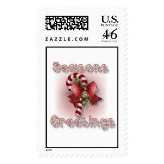"""""""Seasons Greetings"""" Christmas Stamps"""