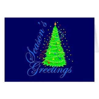Season's Greetings Christmas Tree Card
