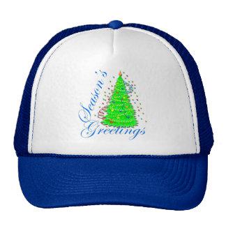 Season's Greetings Christmas Tree Trucker Hat