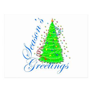 Season's Greetings Christmas Tree Postcard