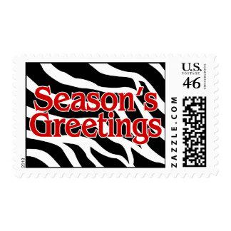 Seasons Greetings Christmas Zebra Stamps