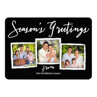 Season's Greetings Classic Photo Collage Card