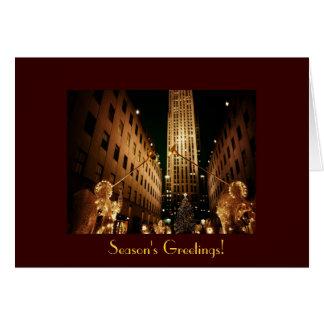 Season's Greetings - Classic Rockefeller Center Card