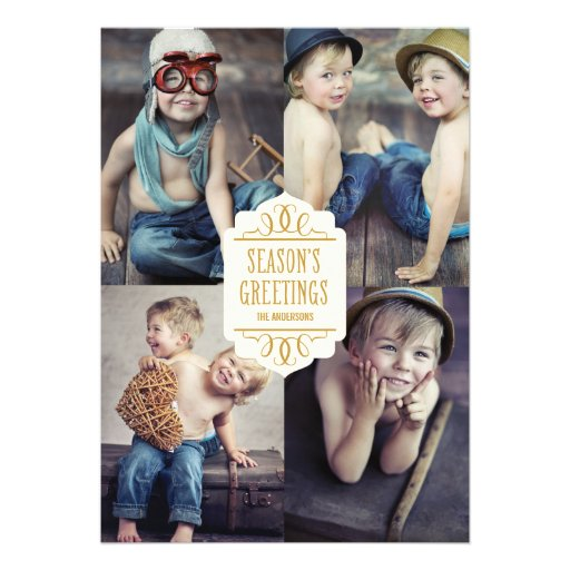 SEASON'S GREETINGS COLLAGE | HOLIDAY PHOTO CARD