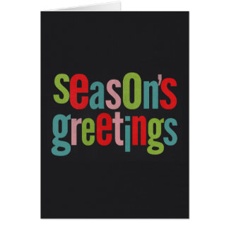 Seasons Greetings Colorful Chalkboard Stationery Note Card