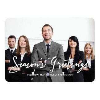 Season's Greetings Corporate Holiday Photo Card