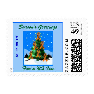 Season's Greetings, Cure  MS - $.62 Odd Sizes 1 oz Postage Stamps