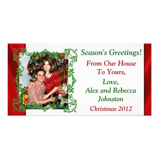 Season's Greetings Custom Holiday Photo Card